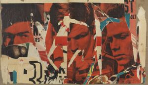 Mimmo Rotella, La rapina (The Robbery), 1964.
