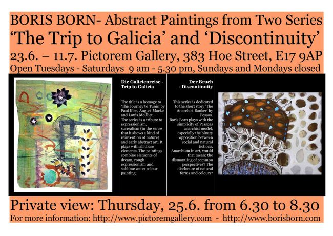 BORIS BORN- Abstract Paintings from Two Series 'The Trip to Galicia' and 'Discontinuity': Image 0
