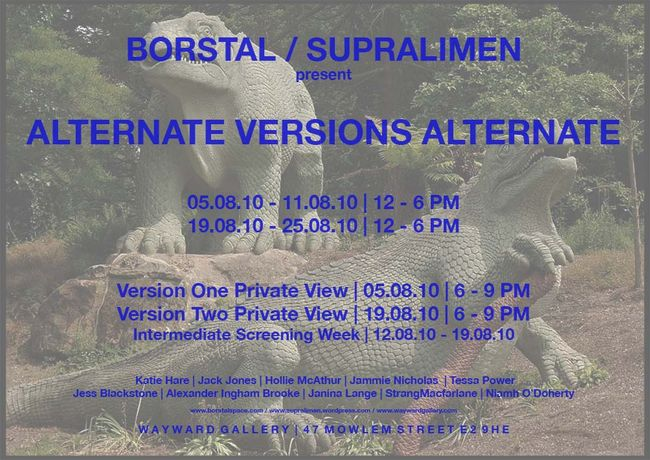 BORSTAL / SUPRALIMEN present ALTERNATE VERSIONS ALTERNATE: Image 0