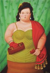 Fernando Botero, Woman with Her Purse, 2010, Oil on canvas, 81 x 56 cm