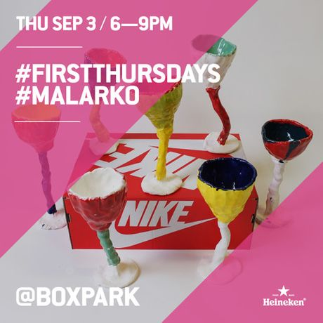 BOXPARK ARE PLEASED TO ANNOUNCE SEPTEMBER'S #FIRSTTHURSDAYS ARTIST MALARKO: Image 0