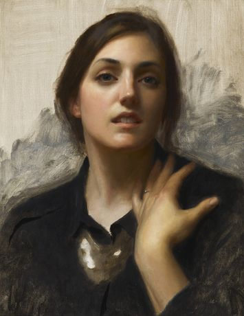 image credit;   0917 E  Laura In Black Oil on Linen 508 x 406 20/09/2015 © Joshua  LaRock