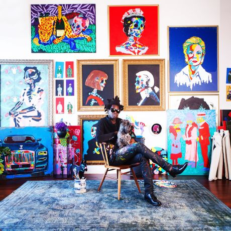 Bradley Theodore in his studio - 2015
