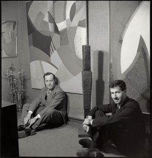 Charles and Peter Gimpel of Gimpel Fils Ida Kar, 1958 © National Portrait Gallery, London