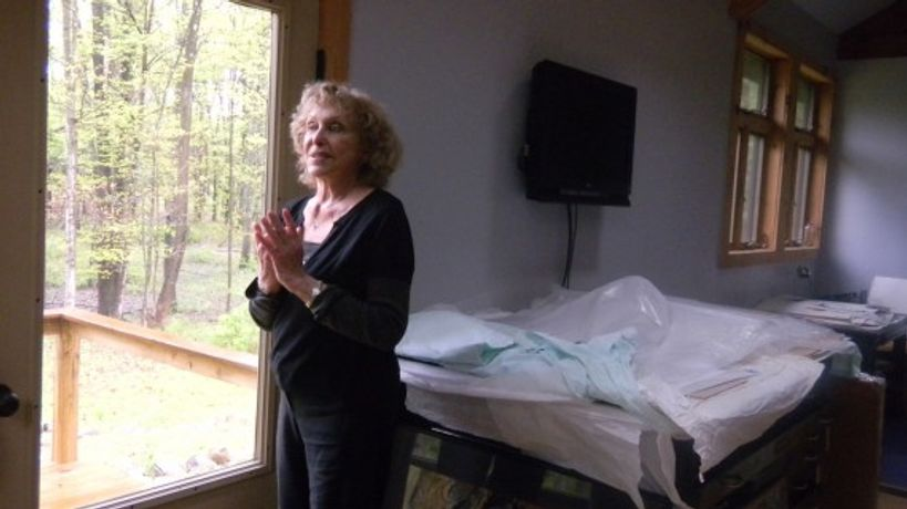 Carolee Schneemann in her studio, New Paltz. 2010. Photo: Bonnie Marranca