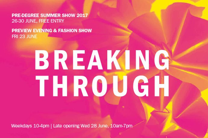 Breaking Through - Pre-Degree Summer Show: Image 0