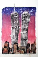 New York Ghosts, watercolour