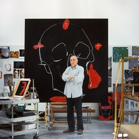 Brian Clarke in his studio, © Ti Foster