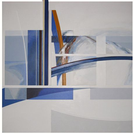 Brian Plummer: Solo Show: Large sea- and landscape based acrylic painted constructions: Image 0
