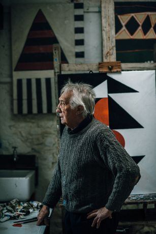 Brian Rice in his studio