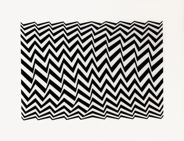 Bridget Riley, Untitled (Fragment 3), screenprint on Plexiglas, 1965, 62.2 x 80.5 cm