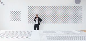 Bridget Riley in her London studio, 2017