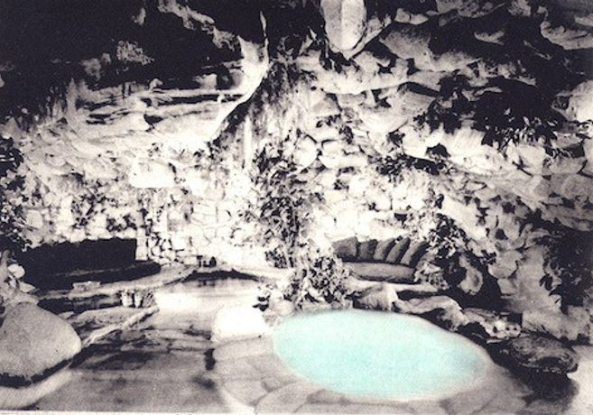 'Caves, Follies, Grottoes, Hermitages VI: Playboy Grotto' photo etch, offset monoprint. ©2015 Bridgette Ashton.