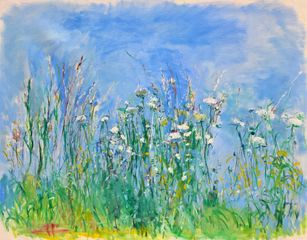 Spring Meadow I, oil on canvas, 114x146cm