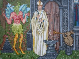 St. Dunstan & The Devil, 2015, Courtesy the artist and CNB Gallery.