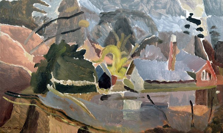 Ivon Hitchens 'House by Lake'