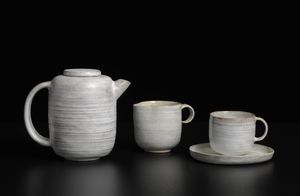 Lucie Rie, Early tea set, c. 1930 Earthenware, 11 x 14 x 10 cm (LR-0063)