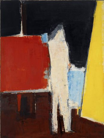 Peter Kinley, Standing Figure in Studio Interior, 1961, oil on canvas, 72 x 54 in.