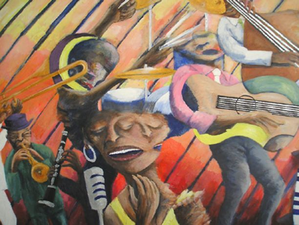 Brixton Sounds An exhibition of paintings as well as live blues by painter/musician Errol Linton: Image 0