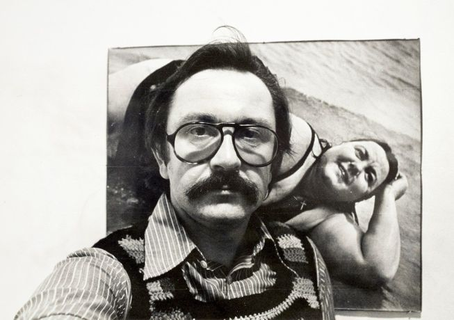Gerd Sander selfie before his first exhibition in Washington DC