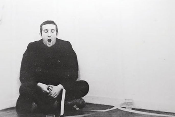 Bruce McLean: A Book, A Print, A Poster, A Sculpture, A Photo Work, A Film, A Model, A Vase, A School, A Failed Project, A Pose, A Masterwork, A Painting, A Text Piece and An Interview: Image 0