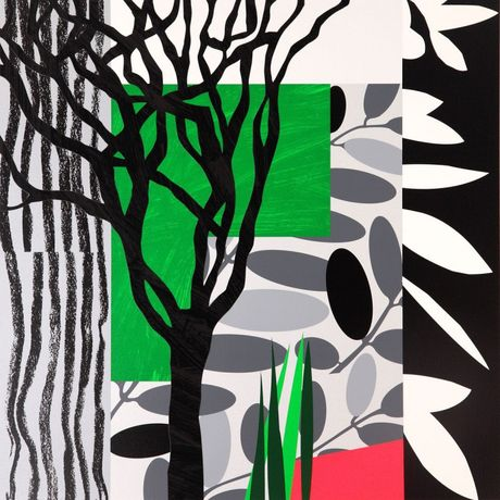'Black Mimosa' by Bruce McLean