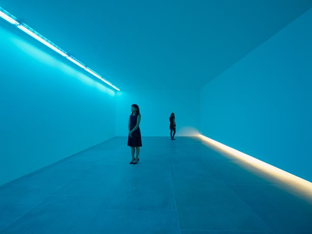 Bruce Nauman, Natural Light, Blue Light Room, 1971, Installation View, 2016, © Bruce Nauman 2016, Photo Peter Mallet