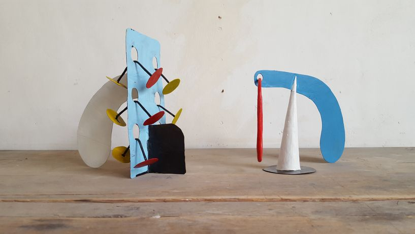 Bryan Illsley, Riveting (left) and Loopy (right) (2016), image © Bryan Illsley, painted brass