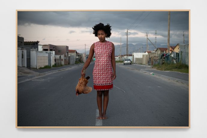 Buhlebezwe Siwani, Isana libuyele kunina, 2015, c-print on cotton, archival ink, 112 × 74 cm, edition of 5 + 2 AP