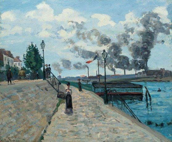 Jean-Baptiste Armand Guillaumin (French, 1841-1927) The Seine at Charenton, 1874 Oil on canvas Norton Simon Art Foundation
