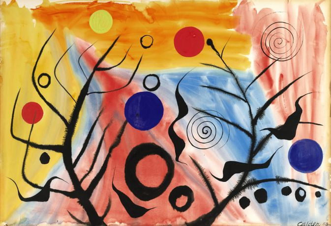 Alexander Calder, Untitled (Colourful) 1953