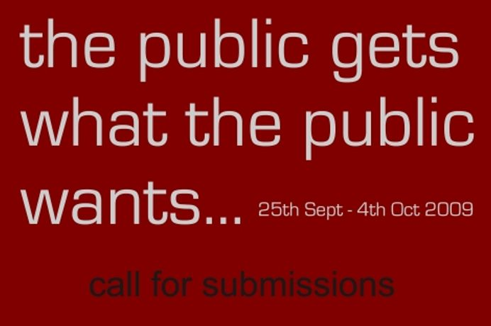 Call for submissions 'the public gets what the public wants': Image 0