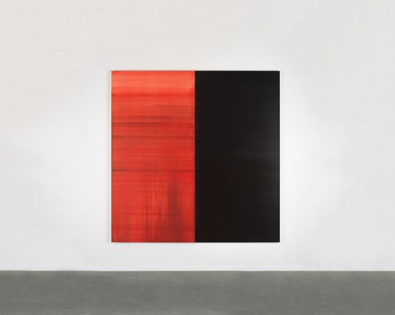 Callum Innes, Untitled Lamp Black No. V, 2018. Oil on linen, 235 x 230 cm. Courtesy the artist and Frith Street Gallery, London