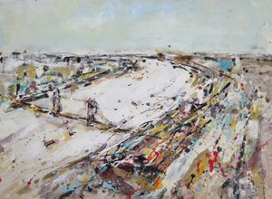 Artist Andrew Hood will be showing on the First Contemporary Stand