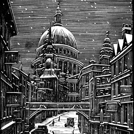 London Snow by Gwen Raverat, courtesy of The Raverat Archive, Stand G7