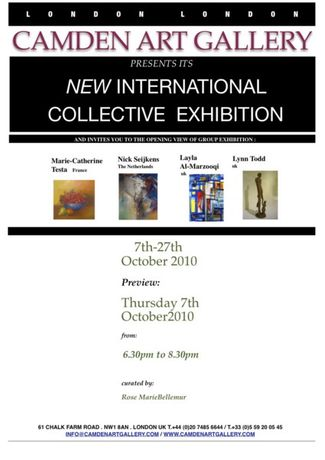 CAMDEN ART GALLERY - INTERNATIONAL COLLECTIVE EXHIBITION, 7 October - 27 November 2010: Image 0