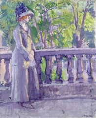 Spencer Frederick Gore (1878-1914), The Balcony, Mornington Crescent, 1911 (Oil on canvas) (c)Leeds Museums and Galleries (Leeds Art Gallery) U.K. Bridgeman