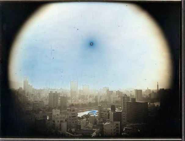 Takashi Arai (b. 1978), March 23, 2014, The Sun at the Apparent Altitude of 570 m in WNW, Hijiyama Park, Hiroshima from the series Exposed in a Hundred Suns, 2014, Daguerreotype, Museum of Fine Arts, Boston, Sophie M. Friedman Fund, 2015.2948.