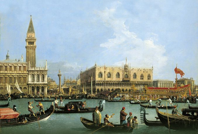 Canaletto, Venice: The Bacino di S. Marco On Ascension Day, c.1733–4. Royal Collection Trust / © Her Majesty Queen Elizabeth II 2017