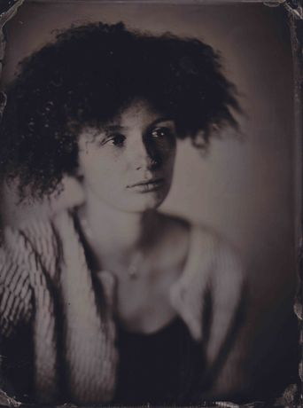 Maya Farmelo. Tintype image made with wetplate collodion process. Sean Hawkey.