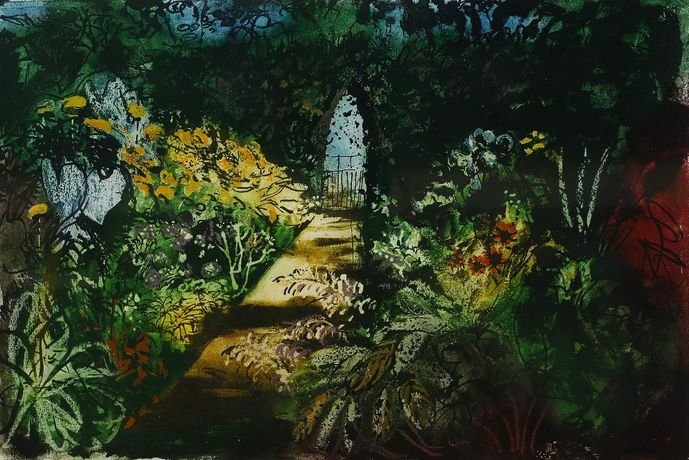 John Piper, Summer Garden at Fawley Bottom