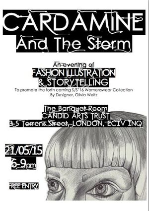 Cardamine and the Storm - An Evening of Fashion Illustration and Storytelling by Olivia Weltz