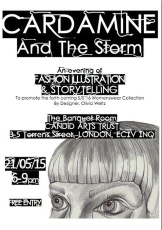 Cardamine and the Storm - An Evening of Fashion Illustration and Storytelling by Olivia Weltz: Image 0