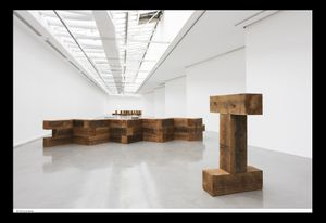 Exhibition view, Carl Andre: Sculpture as place, 1958-2010