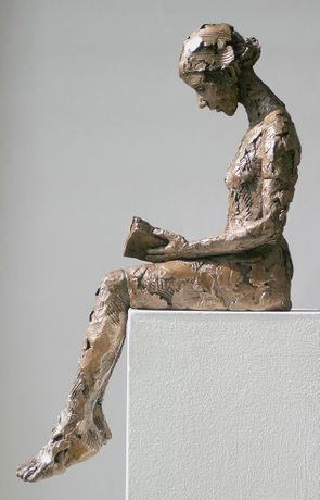 Carol Peace, Reading, 59cm x 35d x 19w, ed of 25, Available in Bronze or Bronze Resin