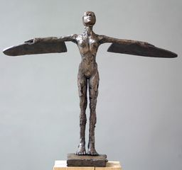 Carol Peace, Plain Girl, 55cm x 64w x 27d, ed of 25, Bronze
