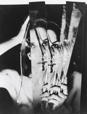 Carolee Schneemann. Eye Body: 36 Transformative Actions for Camera. 1963/2005. Eighteen gelatin silver prints. 24 x 20 each (61 x 50.8 cm). The Museum of Modern Art, New York. Gift of the artist. © 2017 Carolee Schneemann. Courtesy the artist, P.P.O.W, and Galerie Lelong, New York. Photos: Erró