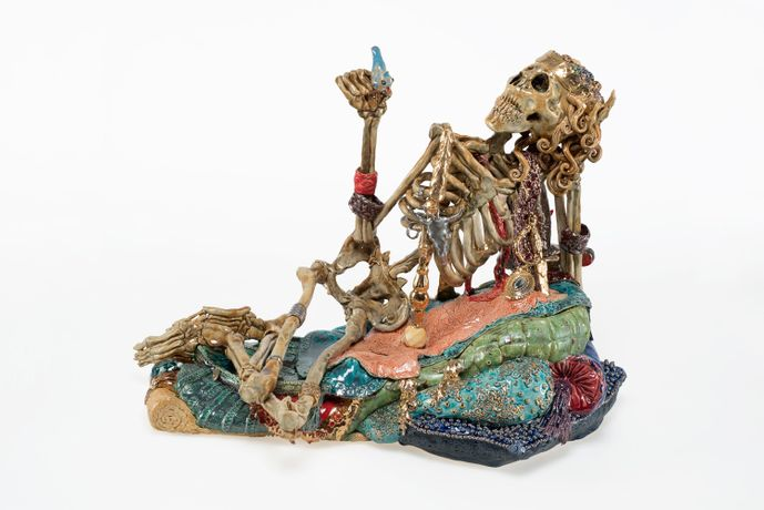 Carolein Smit, Skeleton With Bluebird