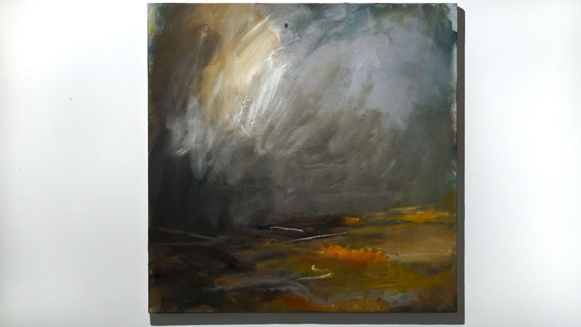 Caroline Hall 'From Salisbury Plain' Oil on canvas SOLD
