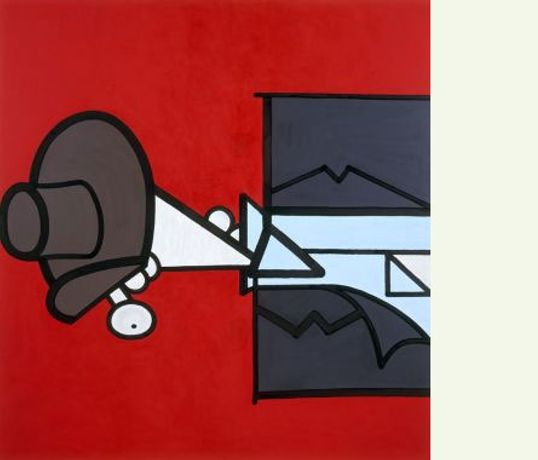 Carroll Dunham: In Red Space: Image 0